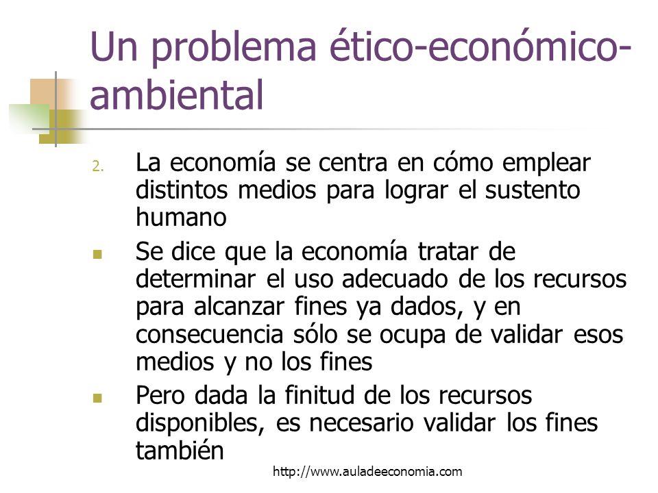 http://www.auladeeconomia.com Un problema ético-económico- ambiental 2.