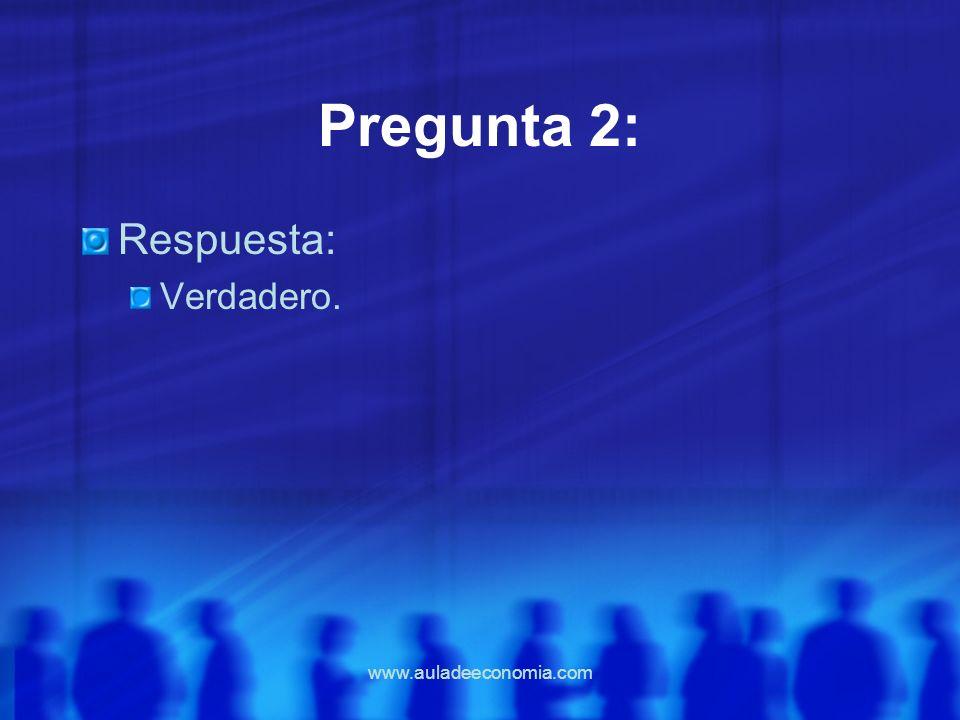 www.auladeeconomia.com Pregunta 2: Respuesta: Verdadero.