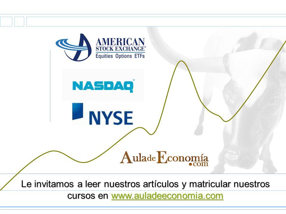 Le invitamos a leer nuestros artículos y matricular nuestros cursos en www.auladeeconomia.com www.auladeeconomia.com
