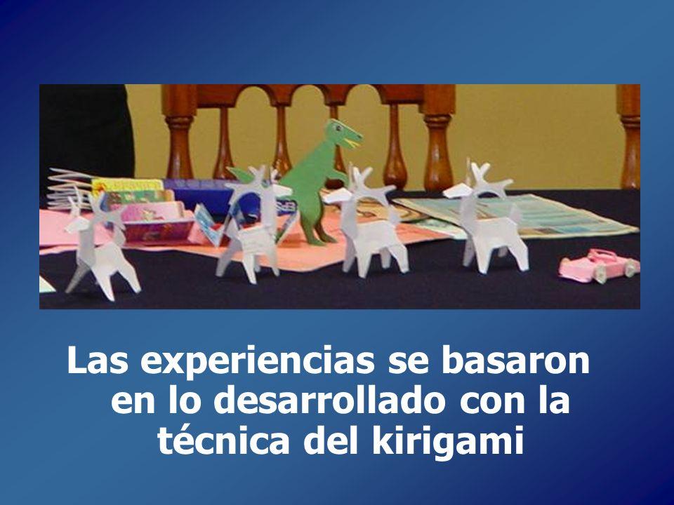 Las experiencias se basaron en lo desarrollado con la técnica del kirigami