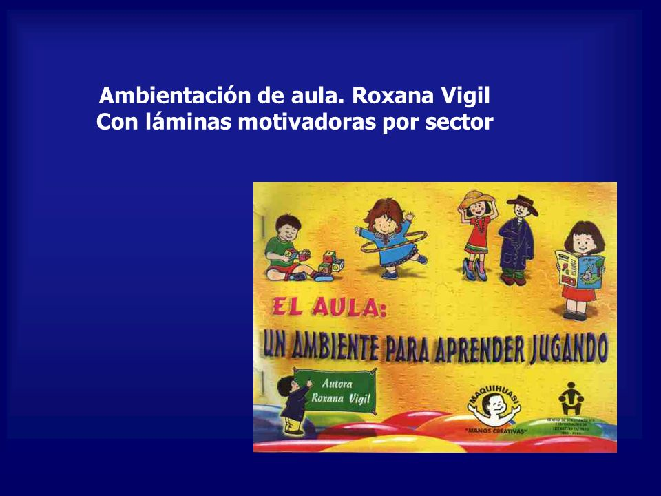 Ambientación de aula. Roxana Vigil Con láminas motivadoras por sector