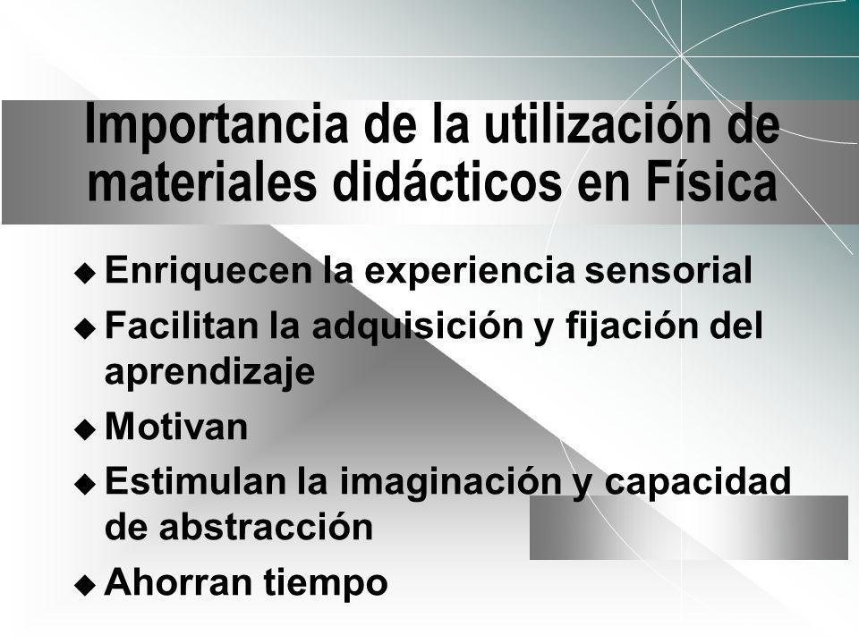 Criterios para la Selección de los Materiales didácticos Correspondencia con los objetivos/competencias Contextualizado Disponibilidad Calidad técnica