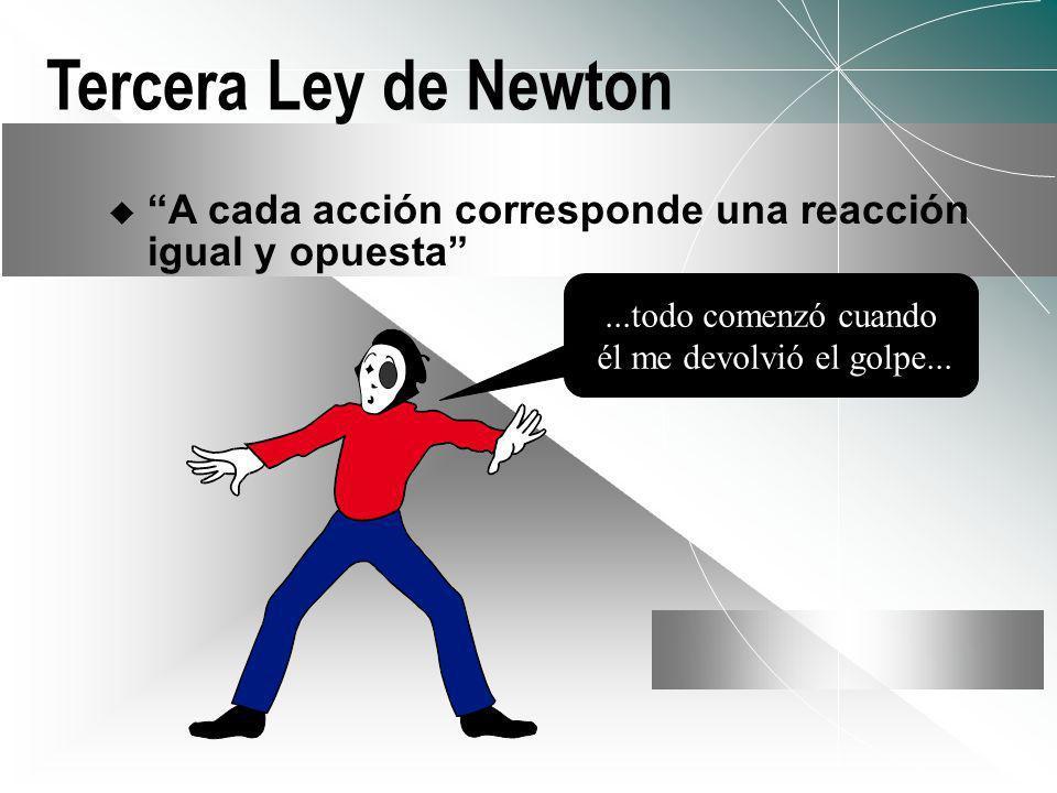 Segunda Ley de Newton La aceleración de un cuerpo es directamente proporcional a la fuerza neta que actúa sobre él y es inversamente proporcional a su