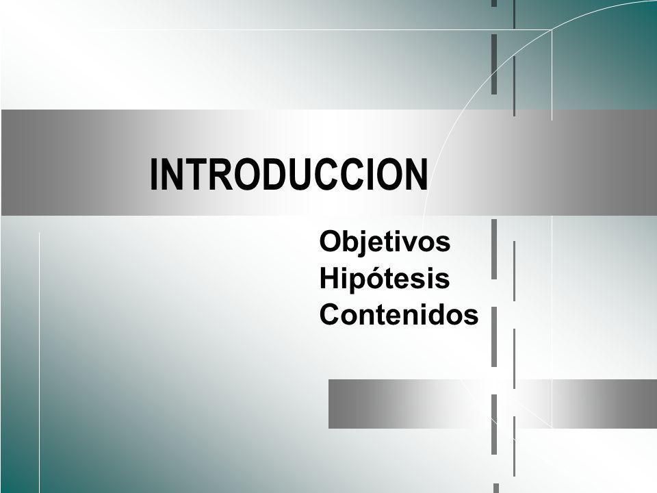 INTRODUCCION Objetivos Hipótesis Contenidos