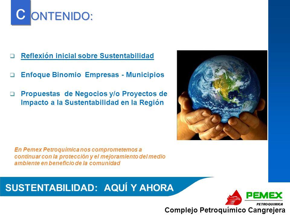Complejo Petroquímico Cangrejera En Pemex Petroquímica nos comprometemos a continuar con la protección y el mejoramiento del medio ambiente en benefic