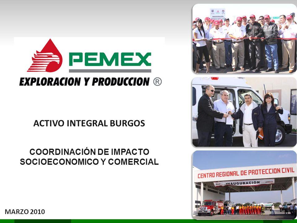 ACTIVO INTEGRAL BURGOS COORDINACIÓN DE IMPACTO SOCIOECONOMICO Y COMERCIAL MARZO 2010
