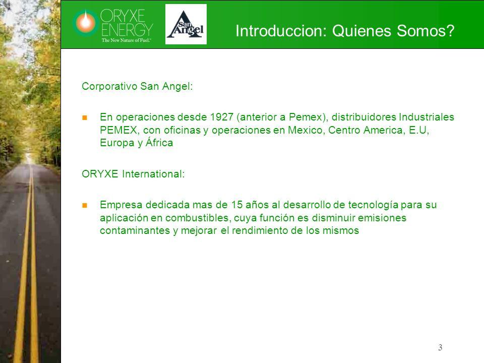 Introduccion: Quienes Somos? Corporativo San Angel: En operaciones desde 1927 (anterior a Pemex), distribuidores Industriales PEMEX, con oficinas y op