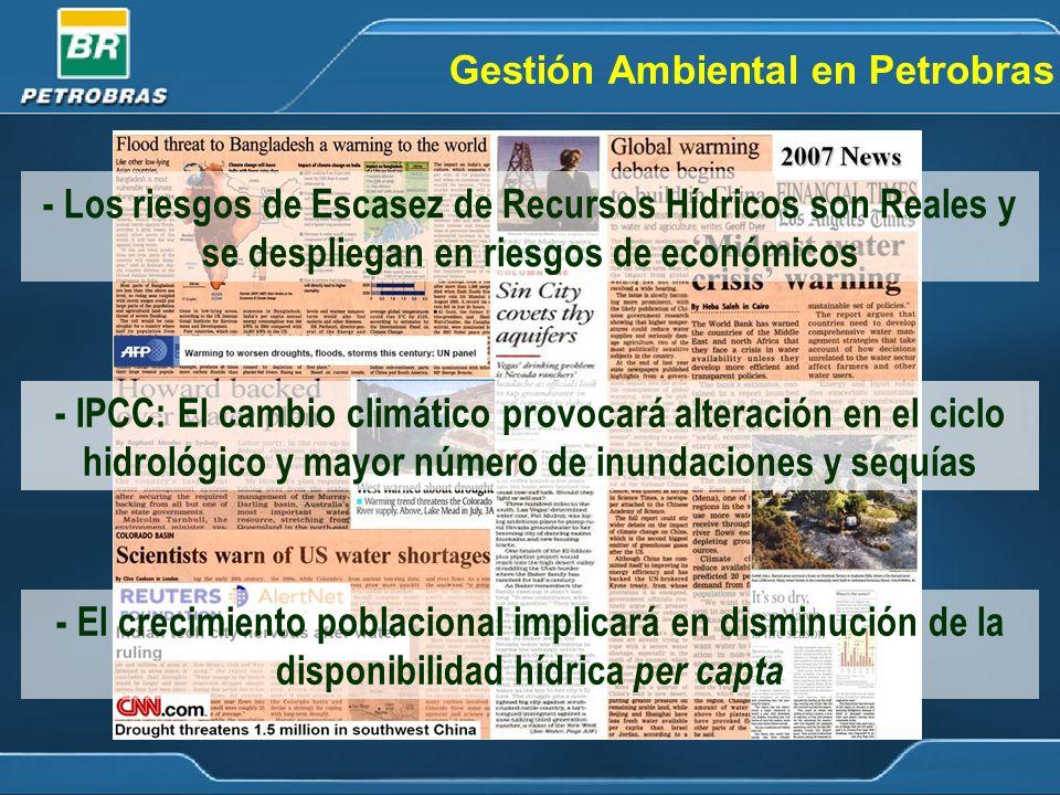 Gestión Ambiental en Petrobras Presión sobre los Recursos Naturales Legislación Ambiental Actividades da la Empresa