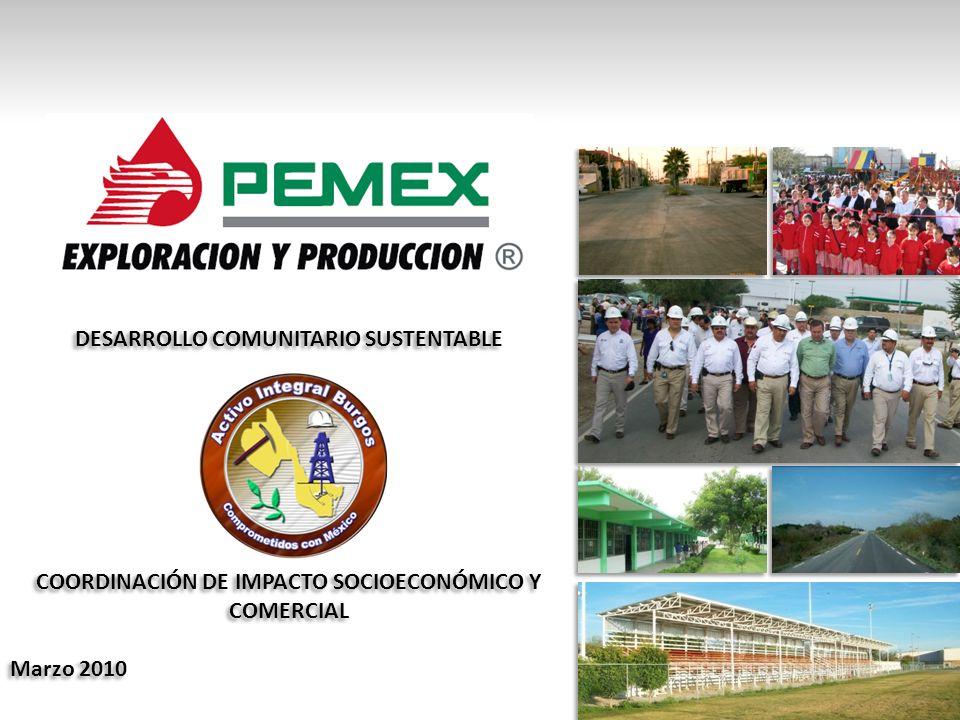 DESARROLLO COMUNITARIO SUSTENTABLE COORDINACIÓN DE IMPACTO SOCIOECONÓMICO Y COMERCIAL Marzo 2010 DESARROLLO COMUNITARIO SUSTENTABLE COORDINACIÓN DE IMPACTO SOCIOECONÓMICO Y COMERCIAL Marzo 2010