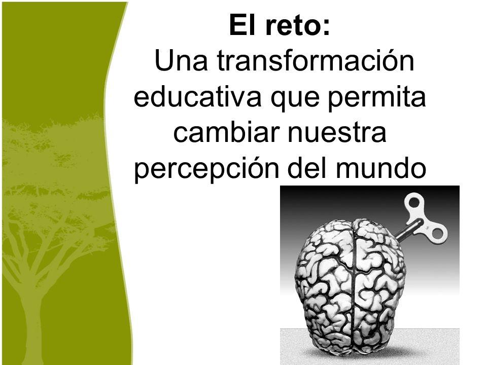 El reto: Una transformación educativa que permita cambiar nuestra percepción del mundo