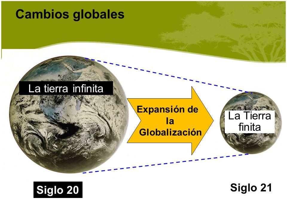Cambios globales Siglo 21 La Tierra finita Siglo 20 La tierra infinita Expansión de la Globalización
