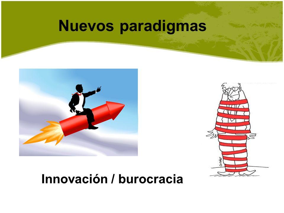 Innovación / burocracia Nuevos paradigmas