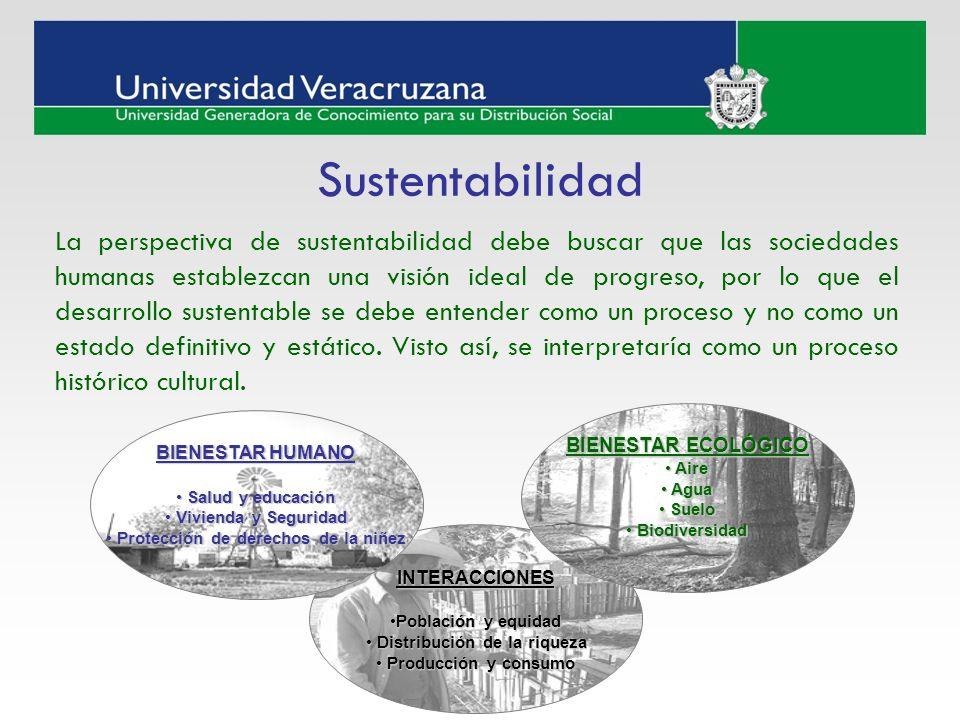 La perspectiva de sustentabilidad debe buscar que las sociedades humanas establezcan una visión ideal de progreso, por lo que el desarrollo sustentabl