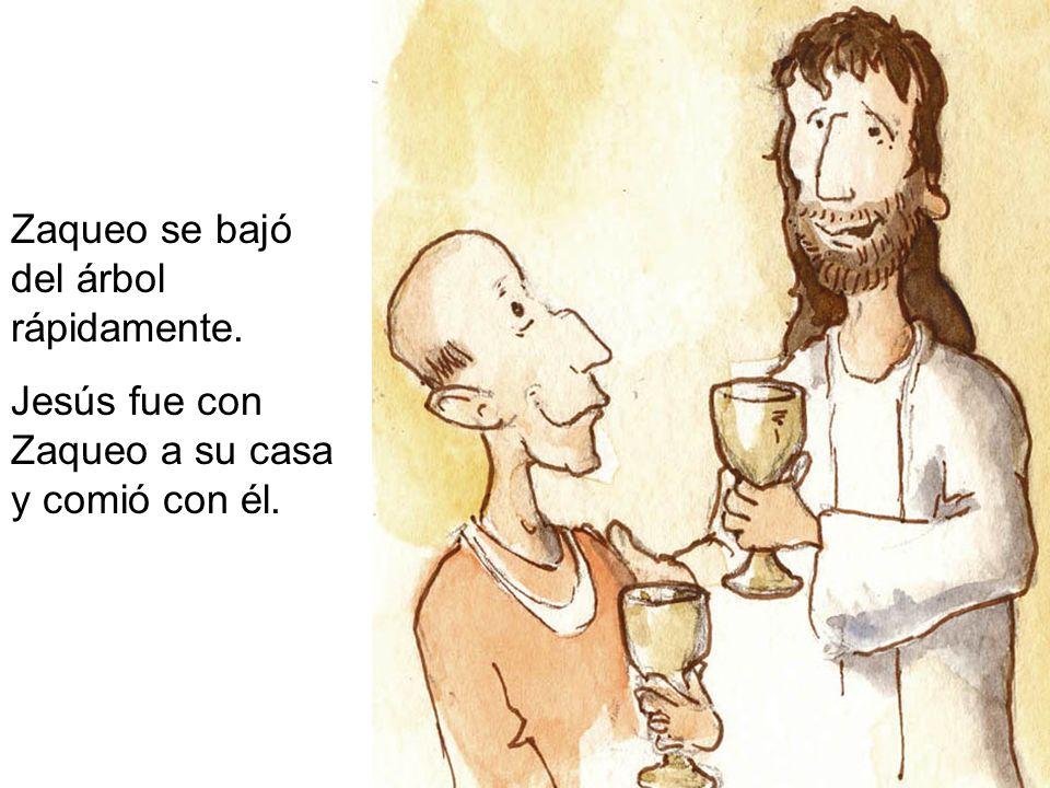 Algunas de las personas estaban disgustadas con Jesús porque había ido a casa de Zaqueo.