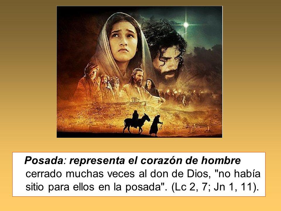 Posada: representa el corazón de hombre cerrado muchas veces al don de Dios,