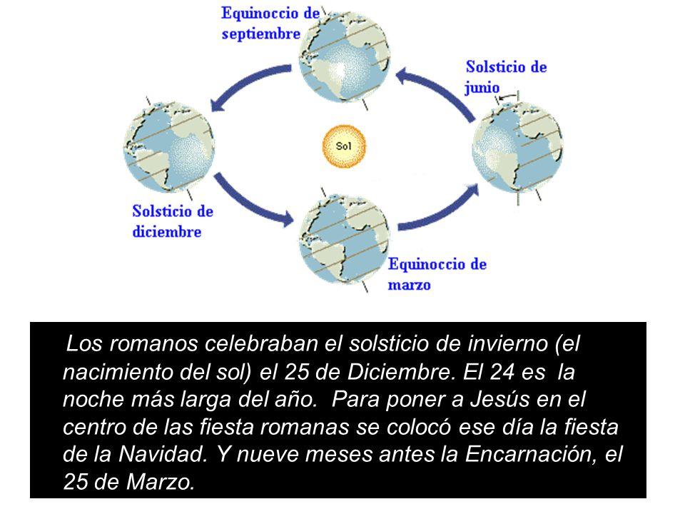 Los romanos celebraban el solsticio de invierno (el nacimiento del sol) el 25 de Diciembre. El 24 es la noche más larga del año. Para poner a Jesús en