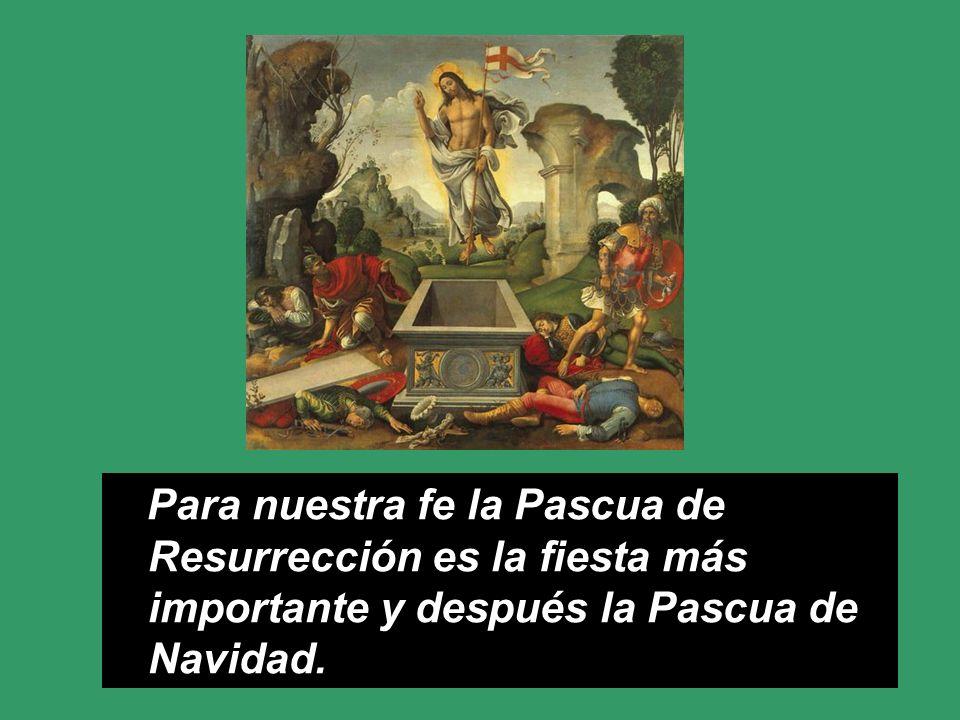 Decimos Felices Pascuas, (y no felices fiestas) porque es una de las tres Pascuas junto con la Resurrección y Pentecostés.