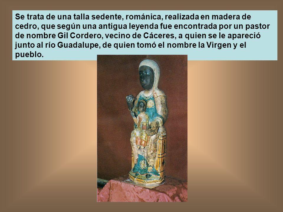 Se trata de una talla sedente, románica, realizada en madera de cedro, que según una antigua leyenda fue encontrada por un pastor de nombre Gil Corder