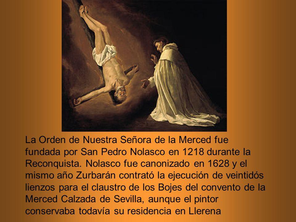 La Orden de Nuestra Señora de la Merced fue fundada por San Pedro Nolasco en 1218 durante la Reconquista. Nolasco fue canonizado en 1628 y el mismo añ