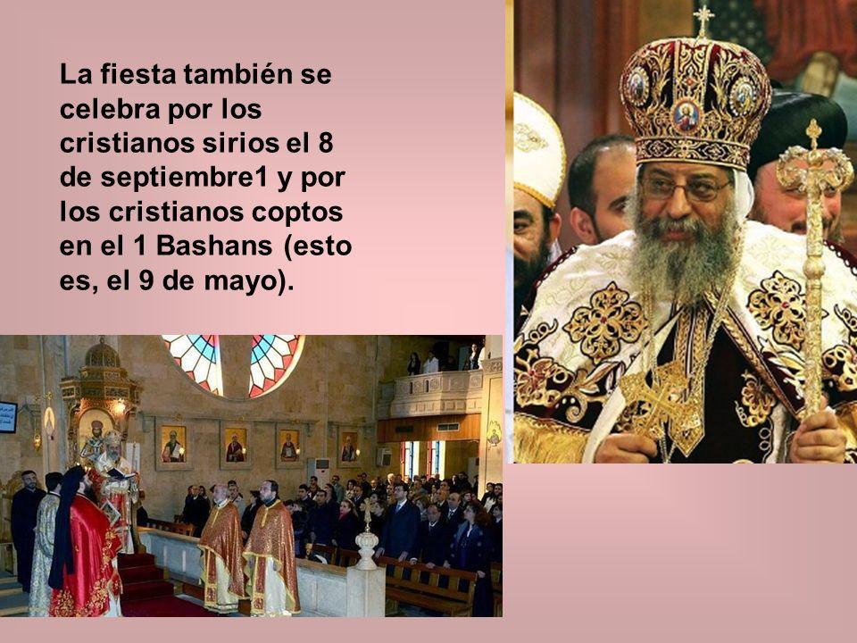 La fiesta fue incluida en el Calendario Tridentino para el 8 de septiembre y ha permanecido en esa fecha.