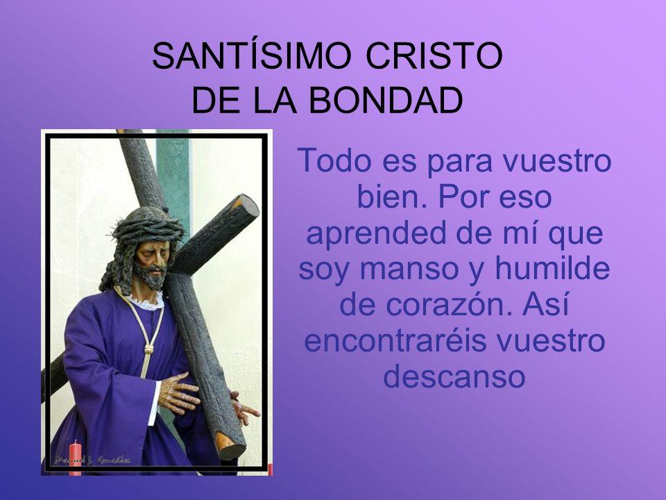 HERMANDAD SACRAMENTAL SANTÍSIMO CRISTO DE LA BONDAD NUESTRA SEÑORA DEL CARMEN Y SAN LEANDRO ILUSTRE Y FERVOROSA La hermandad nació como todas las herm
