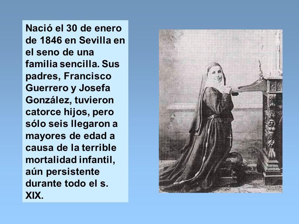 Nació el 30 de enero de 1846 en Sevilla en el seno de una familia sencilla.