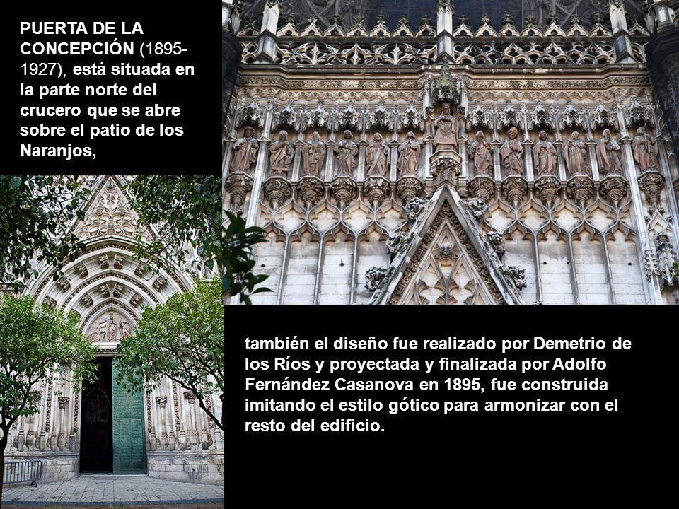 también el diseño fue realizado por Demetrio de los Ríos y proyectada y finalizada por Adolfo Fernández Casanova en 1895, fue construida imitando el e