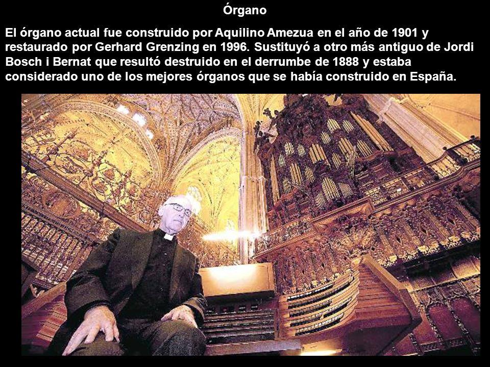 Órgano El órgano actual fue construido por Aquilino Amezua en el año de 1901 y restaurado por Gerhard Grenzing en 1996. Sustituyó a otro más antiguo d