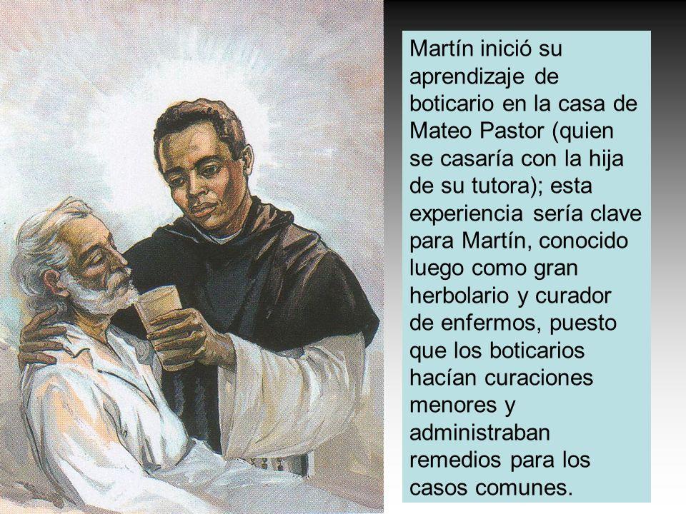 Martín inició su aprendizaje de boticario en la casa de Mateo Pastor (quien se casaría con la hija de su tutora); esta experiencia sería clave para Ma
