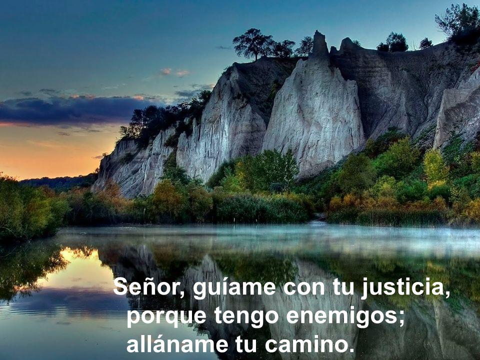 Señor, guíame con tu justicia, porque tengo enemigos; alláname tu camino.