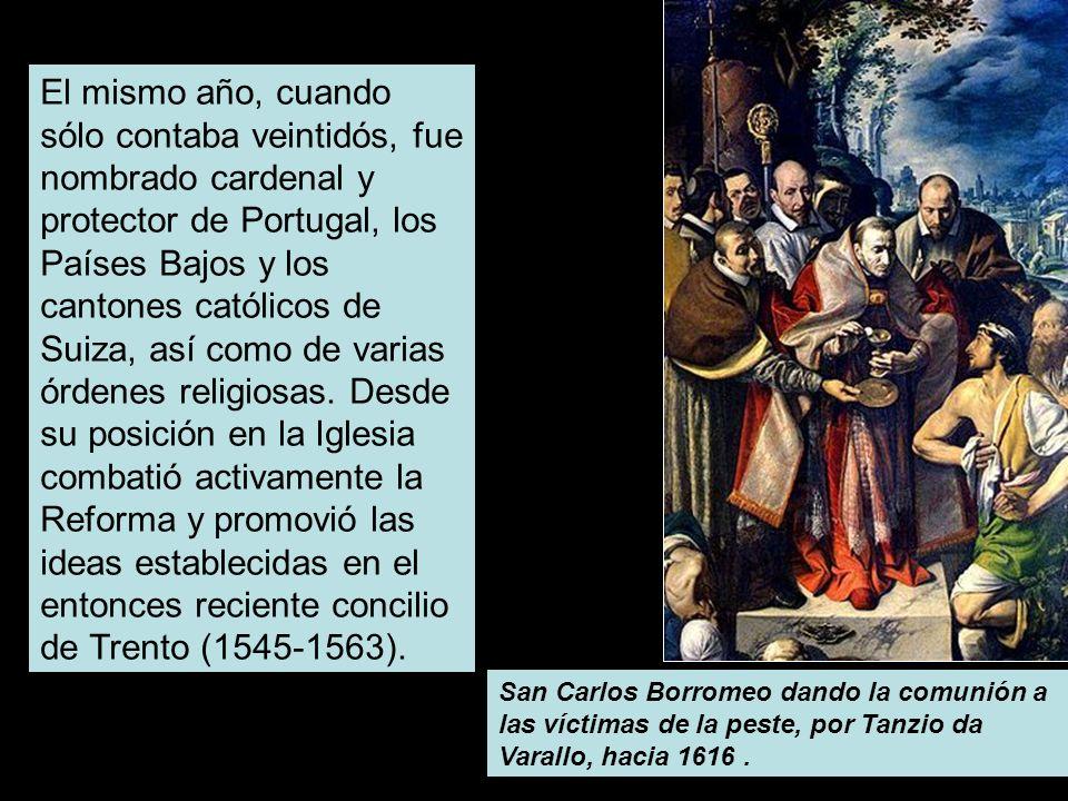 El mismo año, cuando sólo contaba veintidós, fue nombrado cardenal y protector de Portugal, los Países Bajos y los cantones católicos de Suiza, así co