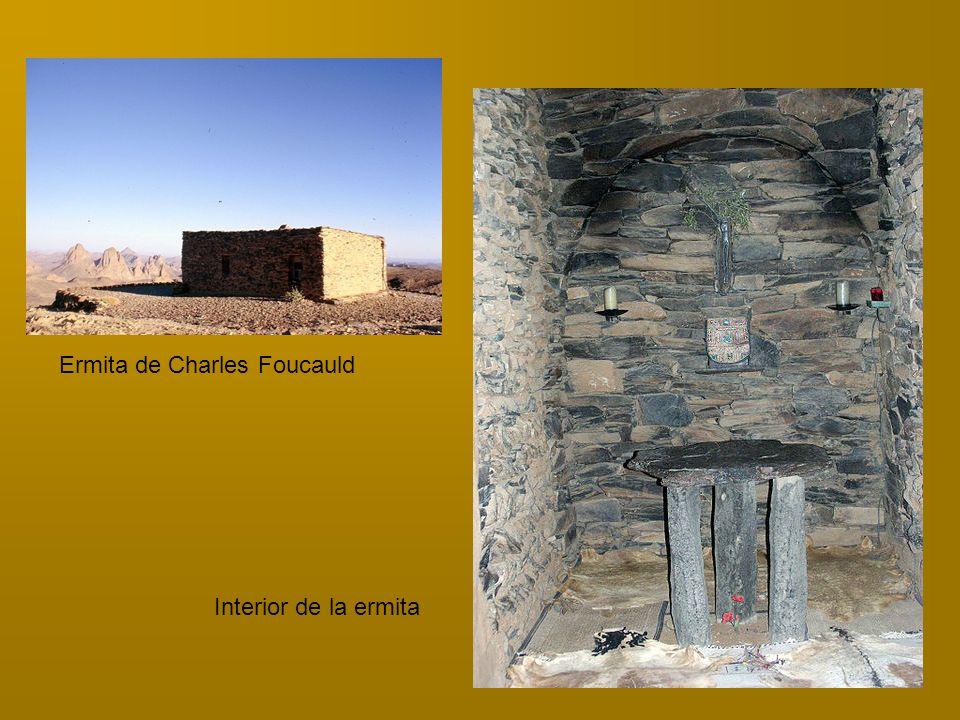 Ermita de Charles Foucauld Interior de la ermita