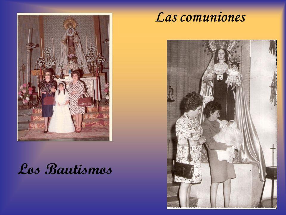 Las comuniones Los Bautismos