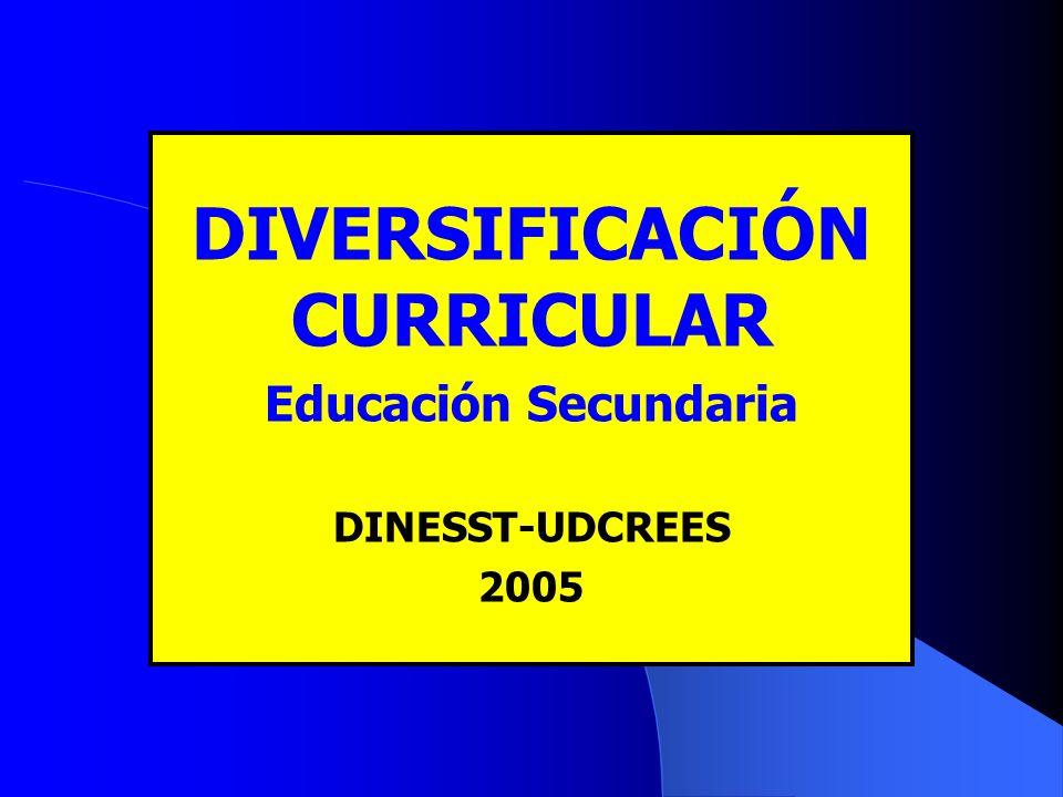 TEMAS I. MARCO DE REFERENCIA II. DIVERSIFICACIÓN CURRICULAR