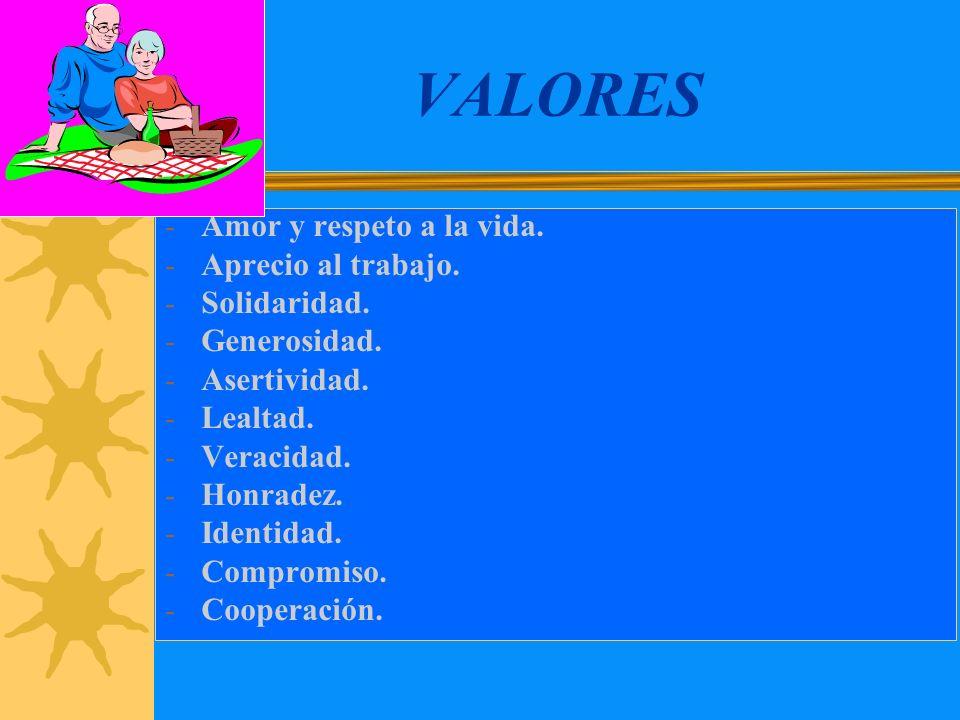 MISION Formar a los educandos integralmente en la I.E.HL incidiendo en la práctica de valores: Honradez (Ama Suwa), Veracidad (Ama Llulla), Laboriosid