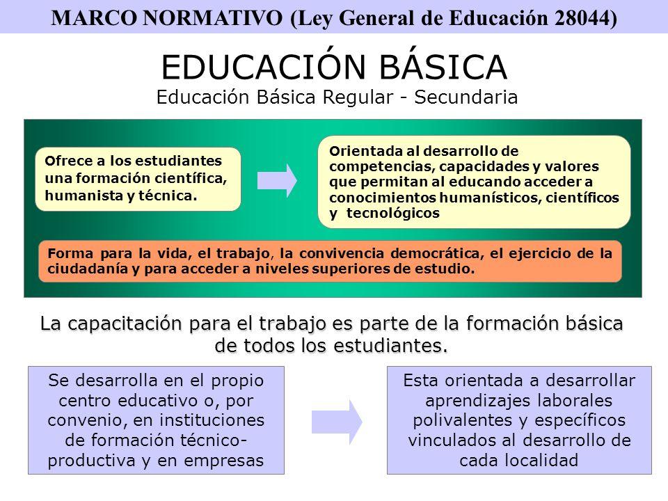 AREA EDUCACIÓN PARA EL TRABAJO ARTICULA LA OFERTA EDUCATIVA A LAS DEMANDAS DE FORMACIÓN DEL SECTOR PRODUCTIVO Y LAS OPORTUNIDADES DE TRABAJO QUE GENERA EL MERCADO GLOBAL.