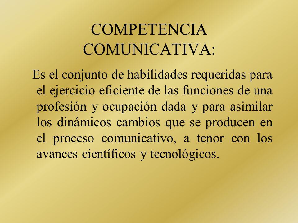 DESARROLLO DE LA COMPETENCIA COMUNICATIVA COMO PARTE DE LA COMPETENCIA PROFESIONAL DE LOS EGRESADOS UNIVERSITARIOS El desarrollo de las capacidades y