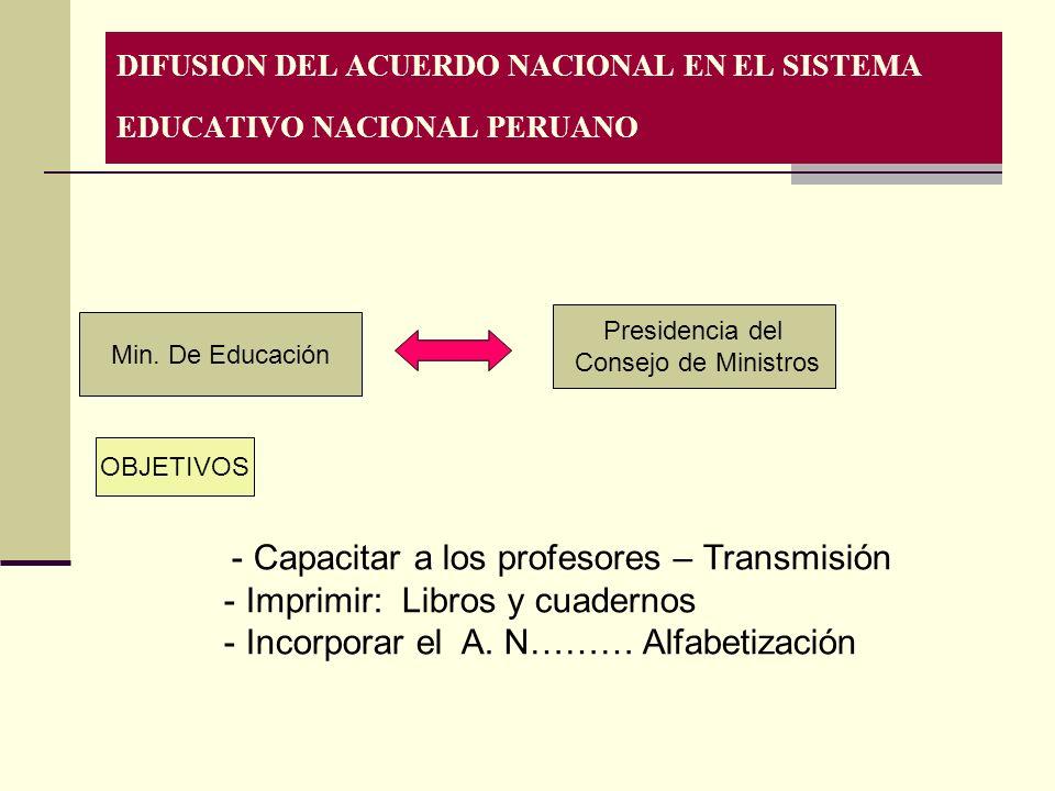 COMPROMISO Sostener la política económica del País sobre los principios de la economía social de mercado.