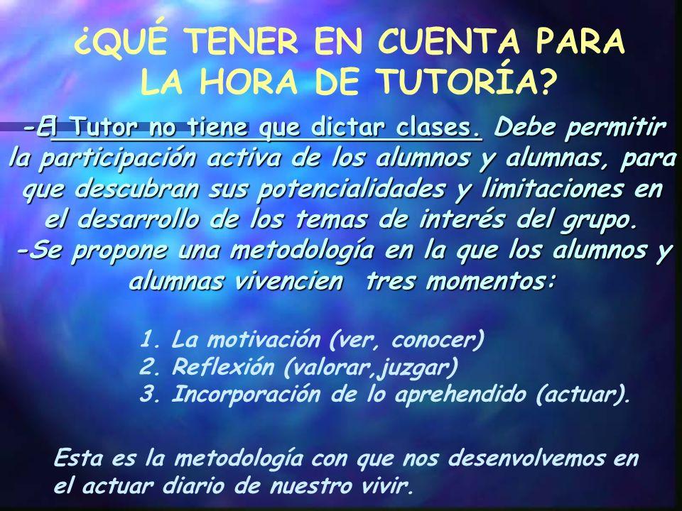 EN LA EVALUACIÓN DEBEMOS TENER EN CUENTA QUE: La relación tutorial emplea la evaluación para mejorar el sistema.