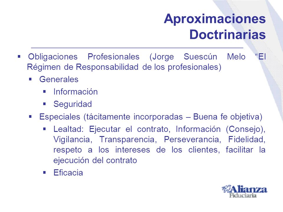 Aproximaciones Doctrinarias Obligaciones Profesionales (Jorge Suescún Melo El Régimen de Responsabilidad de los profesionales) Generales Información S