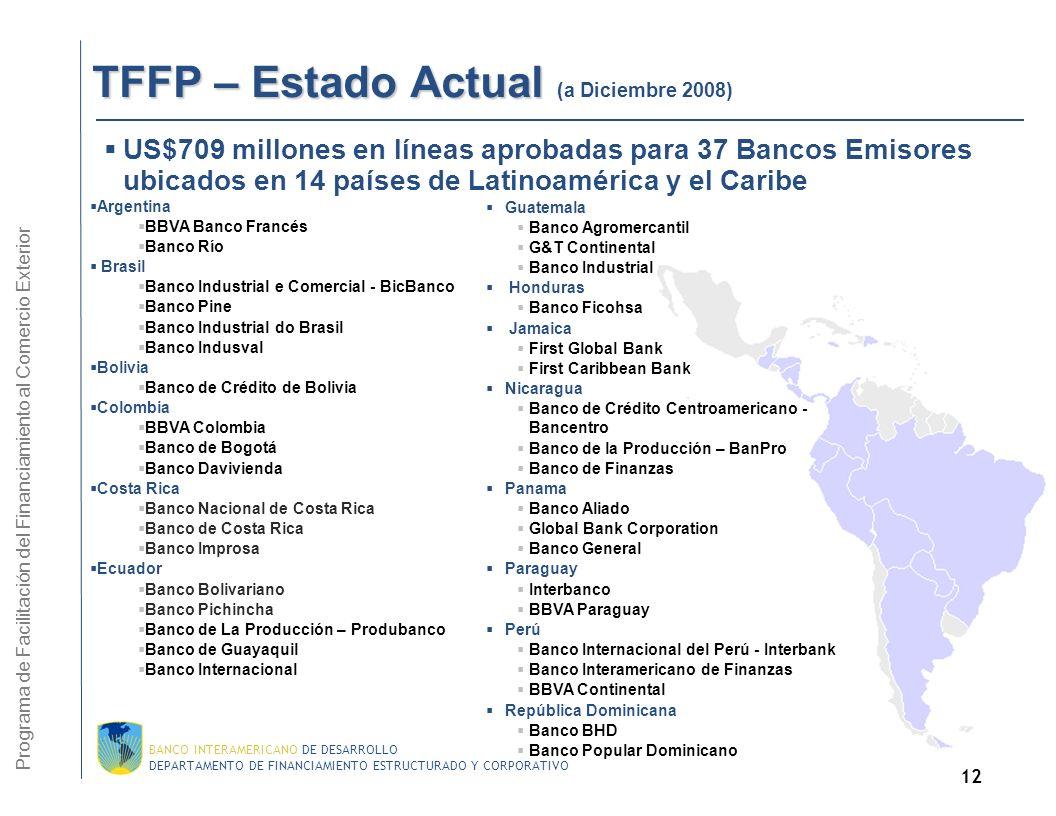 DEPARTAMENTO DE FINANCIAMIENTO ESTRUCTURADO Y CORPORATIVO BANCO INTERAMERICANO DE DESARROLLO 11 TFFP – Proceso de las Transacciones 1.El Banco Emisor