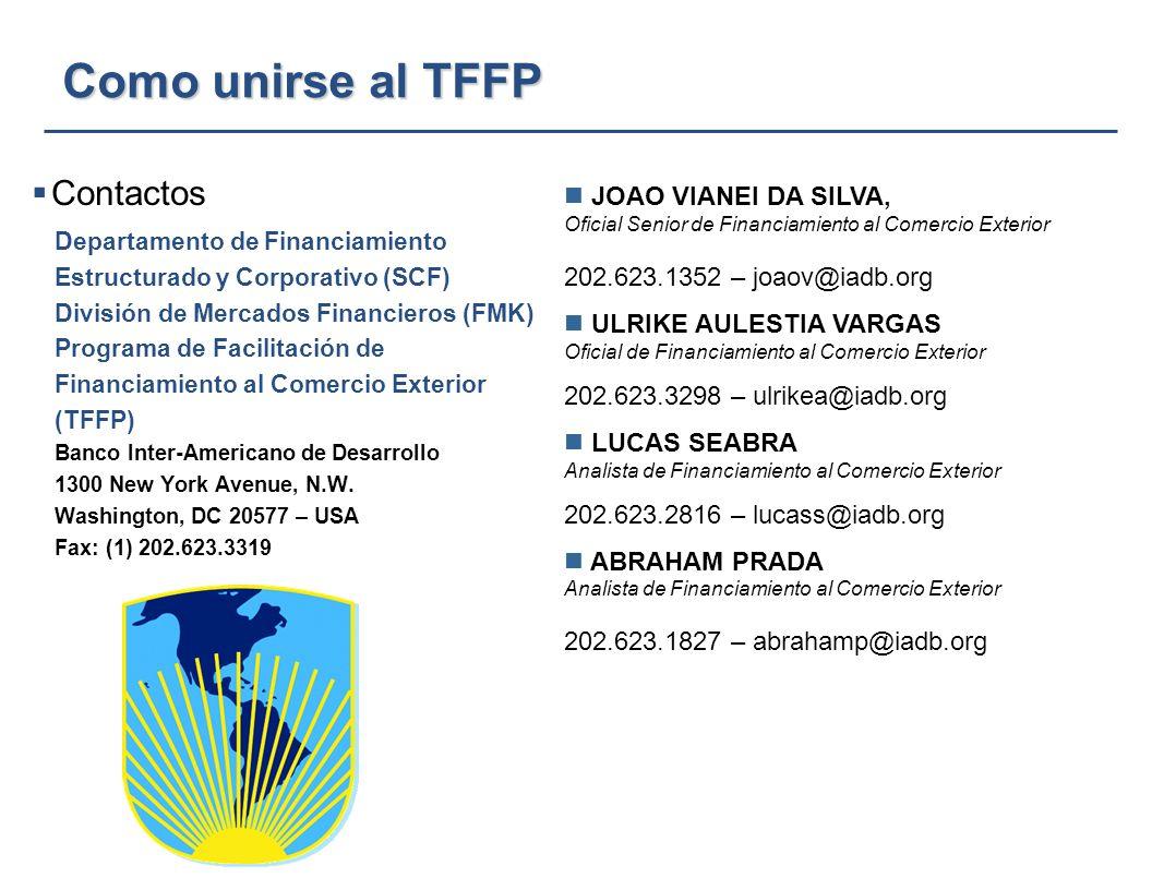 DEPARTAMENTO DE FINANCIAMIENTO ESTRUCTURADO Y CORPORATIVO BANCO INTERAMERICANO DE DESARROLLO 16 TFFP – Estado Actual TFFP – Estado Actual (a Diciembre