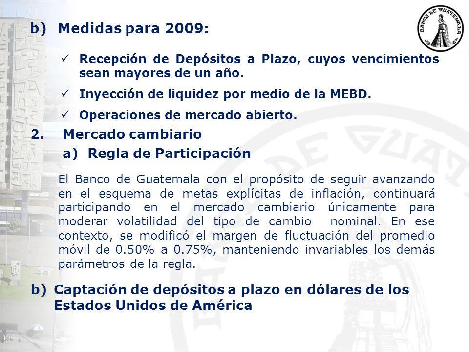 Recepción de Depósitos a Plazo, cuyos vencimientos sean mayores de un año.