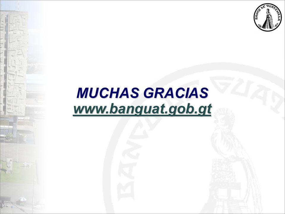 MUCHAS GRACIAS www.banguat.gob.gt
