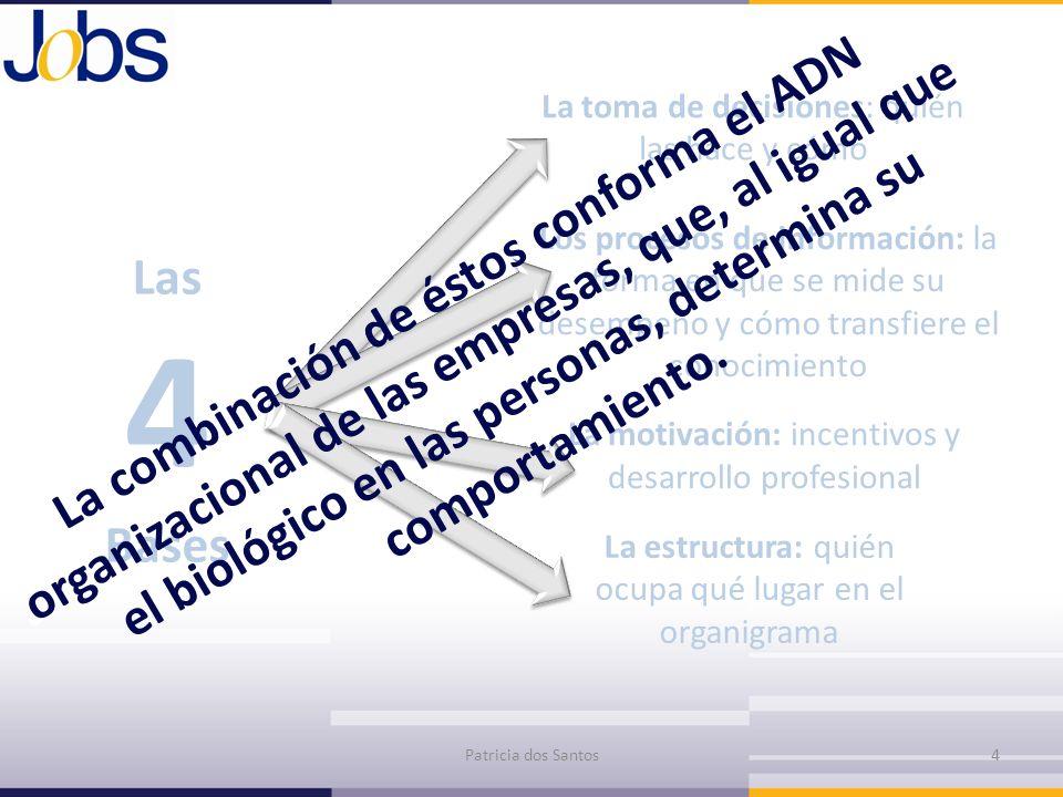 Las 4 Bases La toma de decisiones: quién las hace y cómo Los procesos de información: la forma en que se mide su desempeño y cómo transfiere el conoci