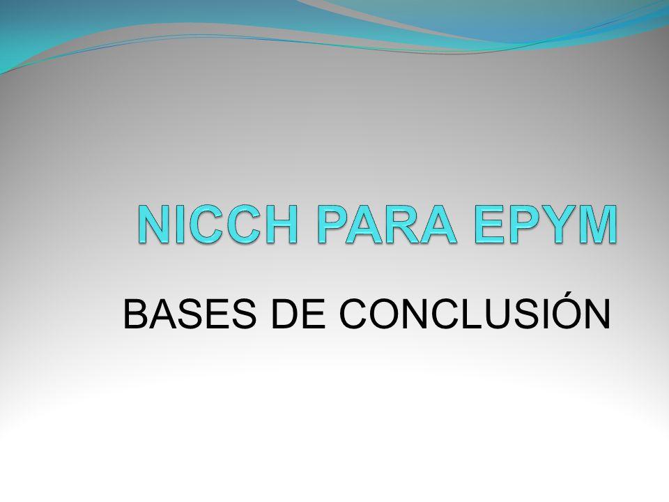BASES DE CONCLUSIÓN