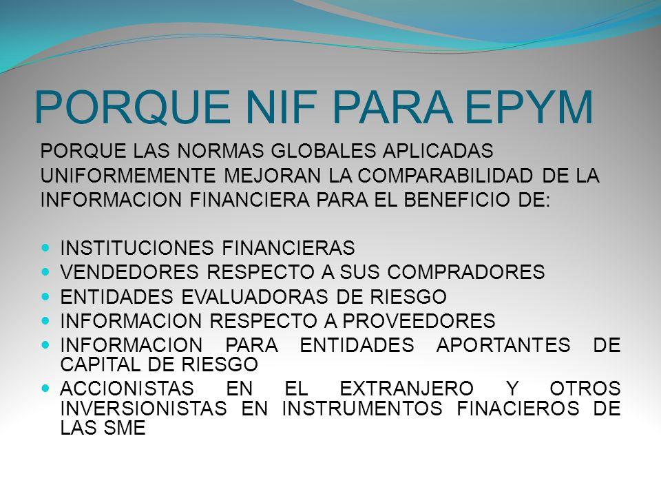 CIRCUNSTANCIAS DISTINTAS LOS USARIOS DE LOS ESTADOS FINANCIEROS DE LA ENTIDAD Y SUS NECESIDADES DE INFORMACION COMO SON UTILIZADOS LOS ESTADOS FINANCIEROS LA PROFUNDIDAD Y EL ALCANCE DEL CONOCIMIENTO CONTABLE DISPONIBLE PARA LA ENTIDAD LA CAPACIDAD DE LAS EPYM PARA SOPORTAR LOS COSTOS INHERENTES EN SEGUIR LAS NORMAS DE ENTIDADES DE MAYOR TAMAÑO (NIFCH COMPLETAS)