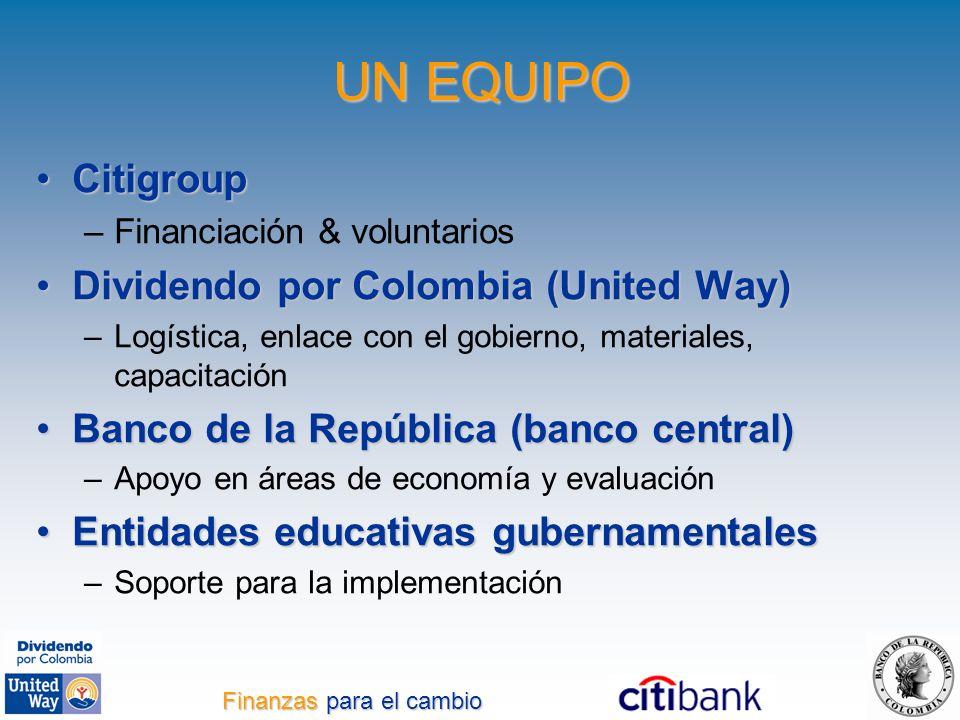 CitigroupCitigroup –Financiación & voluntarios Dividendo por Colombia (United Way)Dividendo por Colombia (United Way) –Logística, enlace con el gobier