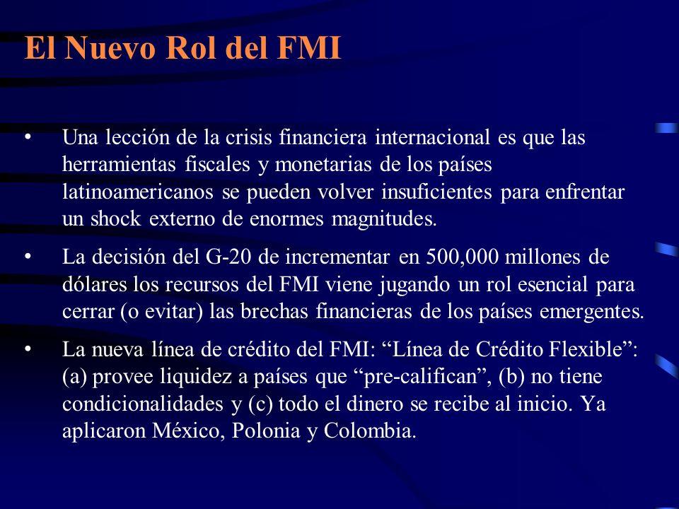 El Nuevo Rol del FMI Una lección de la crisis financiera internacional es que las herramientas fiscales y monetarias de los países latinoamericanos se
