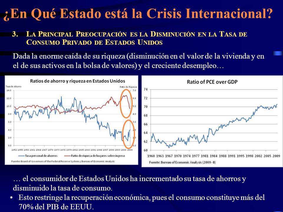 En Conclusión La recesión global ya tocó fondo, pero la recuperación económica es frágil.